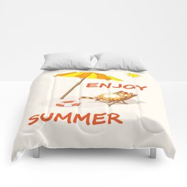 enjoy sunny summer Comforters