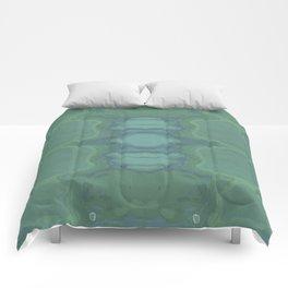 Art Nouveau Green Panel Comforters