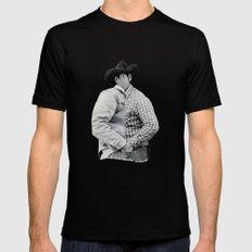 Conversation (Cowboys) MEDIUM Mens Fitted Tee Black
