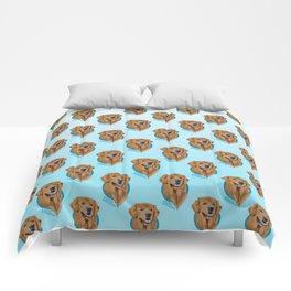 Golden Retriever Print Comforters