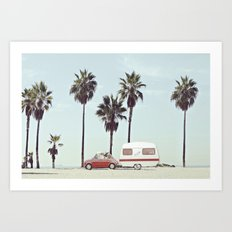 NEVER STOP EXPLORING - CAMPING PALM BEACH Art Print