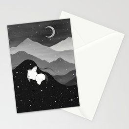 Mountain's Lullaby - Black & White Stationery Cards