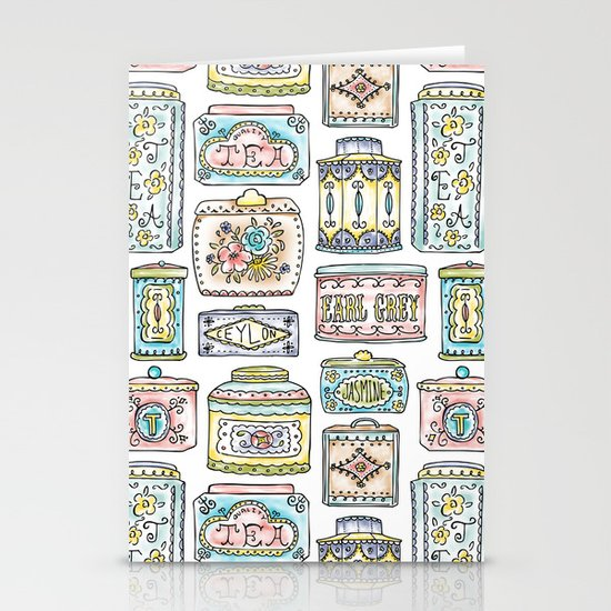 Tea Tins Stationery Cards