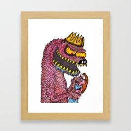 Naked Mole-King Framed Art Print