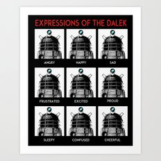 Expressions Of The Dalek Art Print