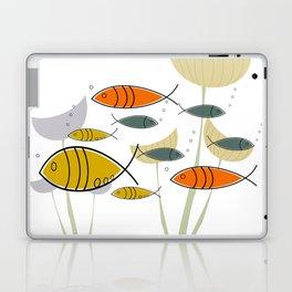 Mid Century Modern Fish, Marine Life Laptop & iPad Skin