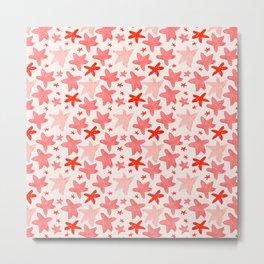 Jumping Starfish, in pink Metal Print