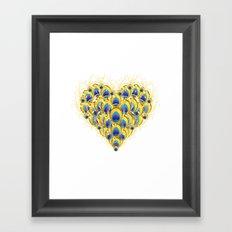 Peacock Heart Framed Art Print
