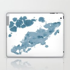 Paint 11 abstract indigo blue modern minimal art print affordable stretched canvas home decor art  Laptop & iPad Skin
