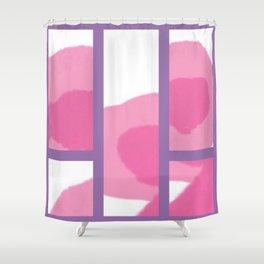 Expressive Windows of Purple Shower Curtain
