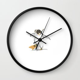 Penguin Is Ready To Dive Wall Clock
