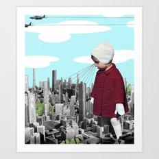 child, seeking something  Art Print