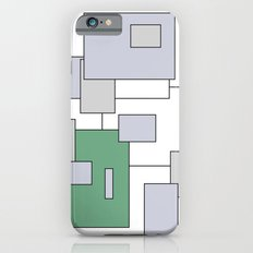 Squares - green, gray and white. iPhone 6s Slim Case