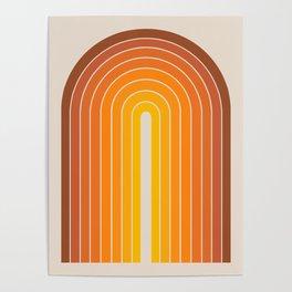 Gradient Arch - Vintage Orange Poster