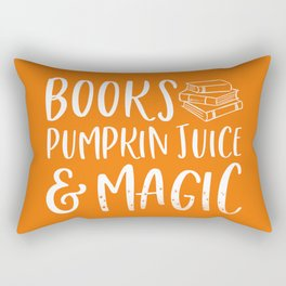 Books & Magic (Orange) Rectangular Pillow
