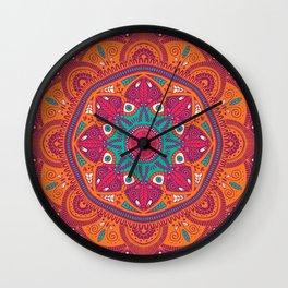 Colorful Mandala Pattern 017 Wall Clock