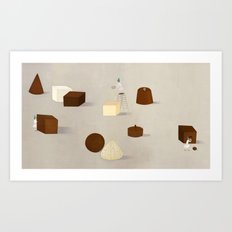 CHOCOLATE PHILOSOPHY Art Print