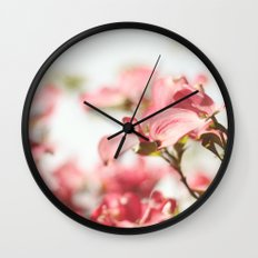 Dogwood Daydreams Wall Clock