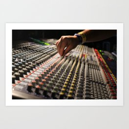 Festival Soundboard Photo Art Print