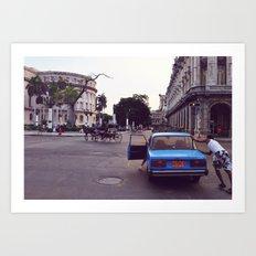 car vs carriage Art Print