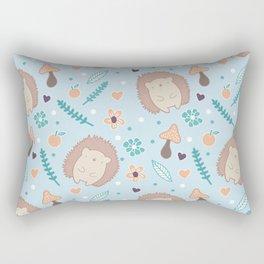 Cute hedgehogs pattern Rectangular Pillow
