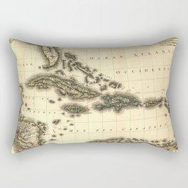 Vintage Map of The Caribbean (1806) Rectangular Pillow