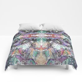 Psychedelic Positive Notes Comforters