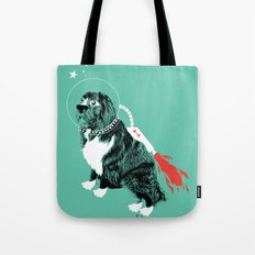A Flying Dog In Outer Space Tote Bag