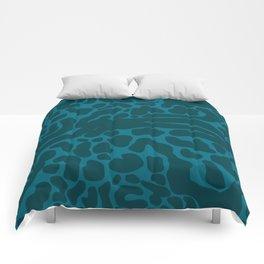 King Cheetah Print in Emerald Teal Comforters
