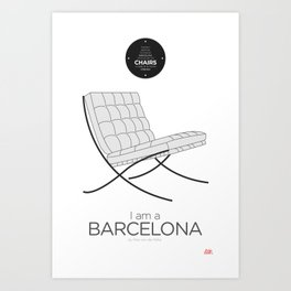 Mies' Barcelona chair (minimalistic version) Art Print
