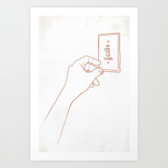 The Emotional Light Switch Art Print