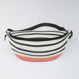 Coral x Stripes Fanny Pack