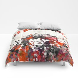 Modern Red Indian Chief - Sharon Cummings Comforters
