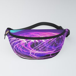 blue moon over an electric ocean Fanny Pack