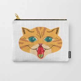 Kiss Me Ginger Cat Carry-All Pouch
