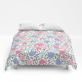 Minimal dots dotted pattern painted pastel polka dots minimalist art and decor Comforters