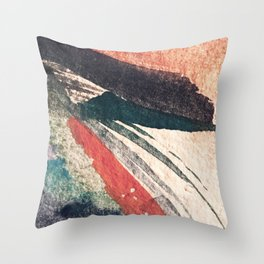 Thunder&Lightning {3}: Minimal watercolor abstract in pinks, blues, and greens Throw Pillow