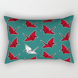 PAPER CRANES RED WHITE AND BLUE Rectangular Pillow