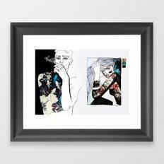 east meets west Framed Art Print