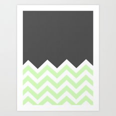 Color Blocked Chevron 15 Art Print