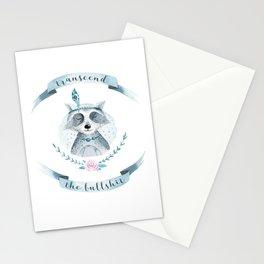 transcend the bullshit Stationery Cards