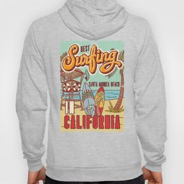 The Best Surfing – Santa Monica Beach Hoody