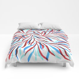 Blue Red I Comforters