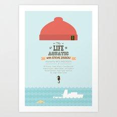 The Life Aquatic with Steve Zissou - minimal poster Art Print