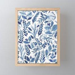 indigo scatter Framed Mini Art Print