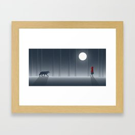 Little Red Riding Hood Framed Art Print