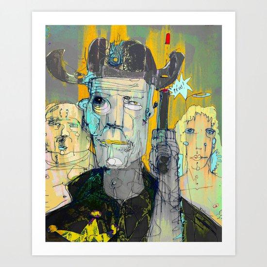 The Good, The Bald & The Ugly Art Print