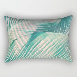 Tropical Colorful Leaves Rectangular Pillow