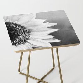 B&W Sunflower Side Table