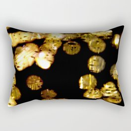 Bokeh gold Rectangular Pillow
